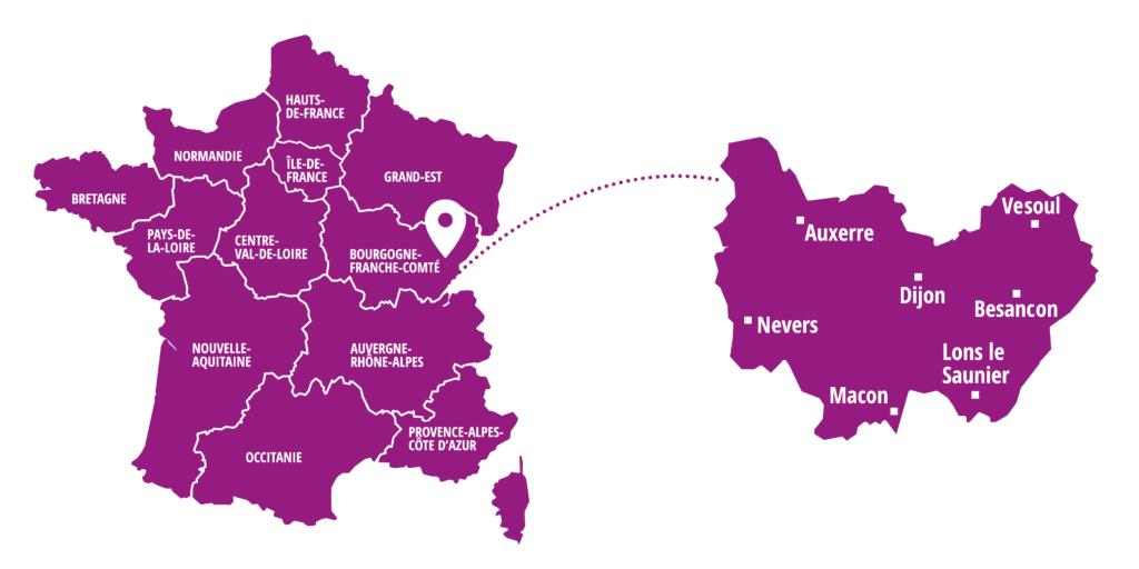 Bourgogne Franche Comte - region